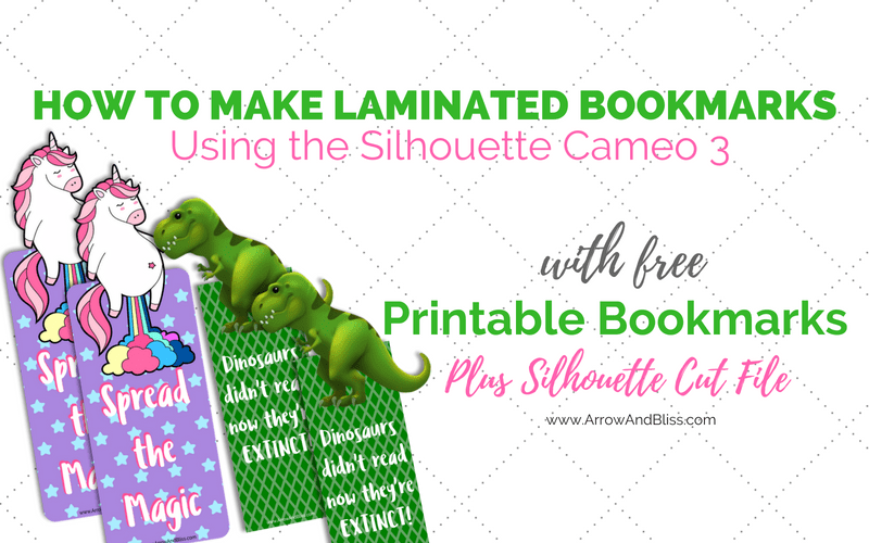 Learn how to make laminated bookmarks plus grab these FREE printable designs and silhouette cut files!