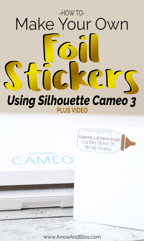 How to Make Your Own Foil Stickers Using Silhouette Cameo