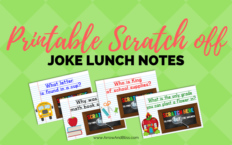 How to Make DIY Scratch Off Cards Plus Free Back to School Lunch Jokes Printable