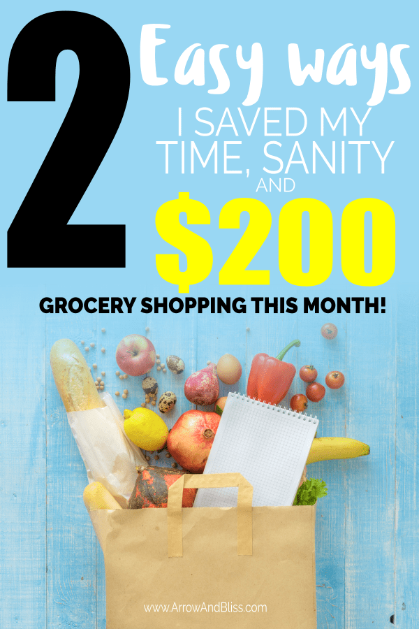 Check out these 2 easy ways you can save your time, sanity and money while grocery shopping.