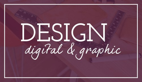 Image that says digital and graphic design