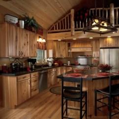 Rustic Hickory Kitchen Cabinets Backsplash Lighting Sarona  Arrow Cabinet Gallery