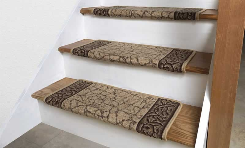 How To Install Carpet Stair Treads On Your Staircase Arrow   Carpet Down Middle Of Stairs   Stair Rods   Wood   Hardwood   Steps   Laminate Flooring