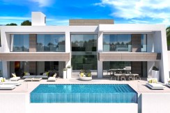 Arrow Head Marbella Light blue villas front view