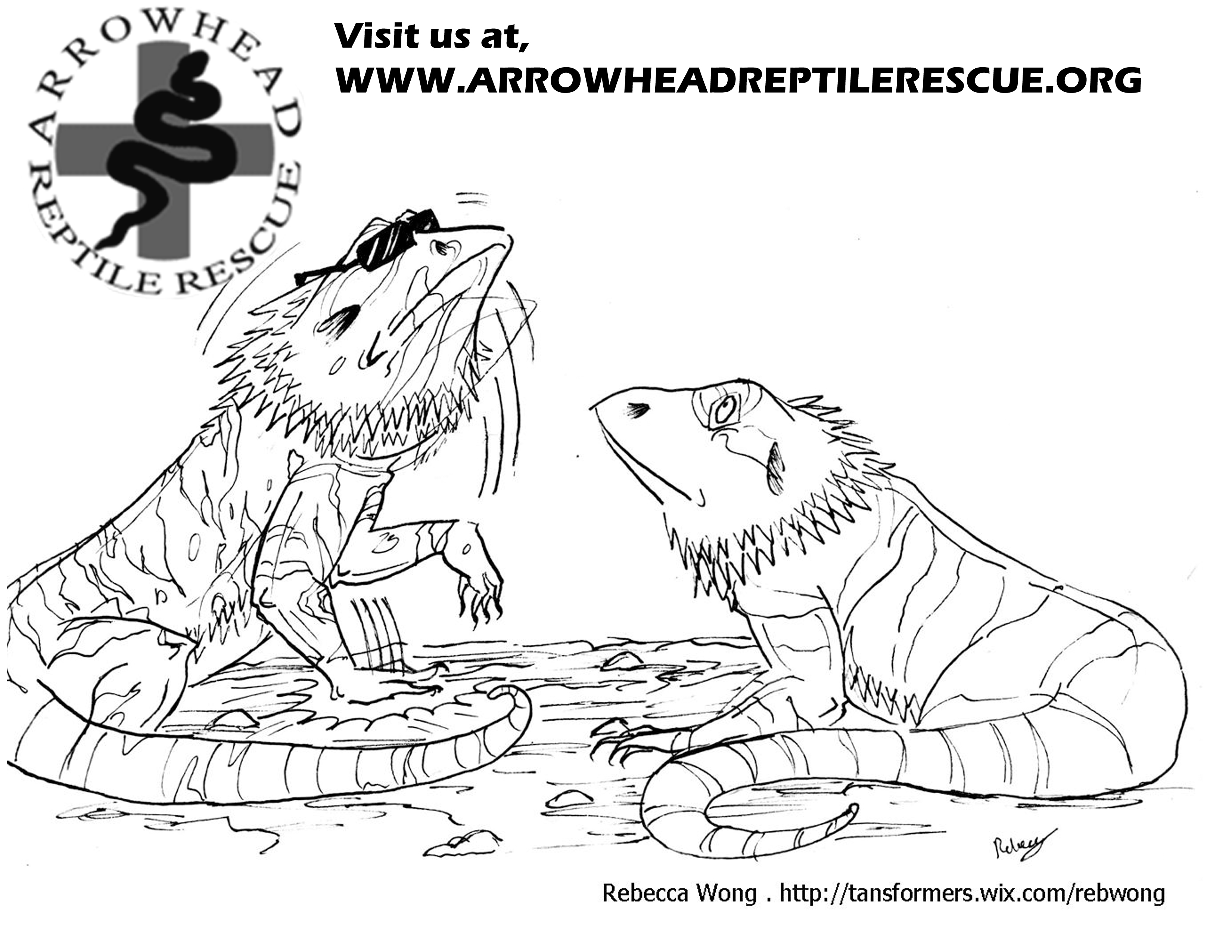 Coloring Pages Of Bearded Dragons