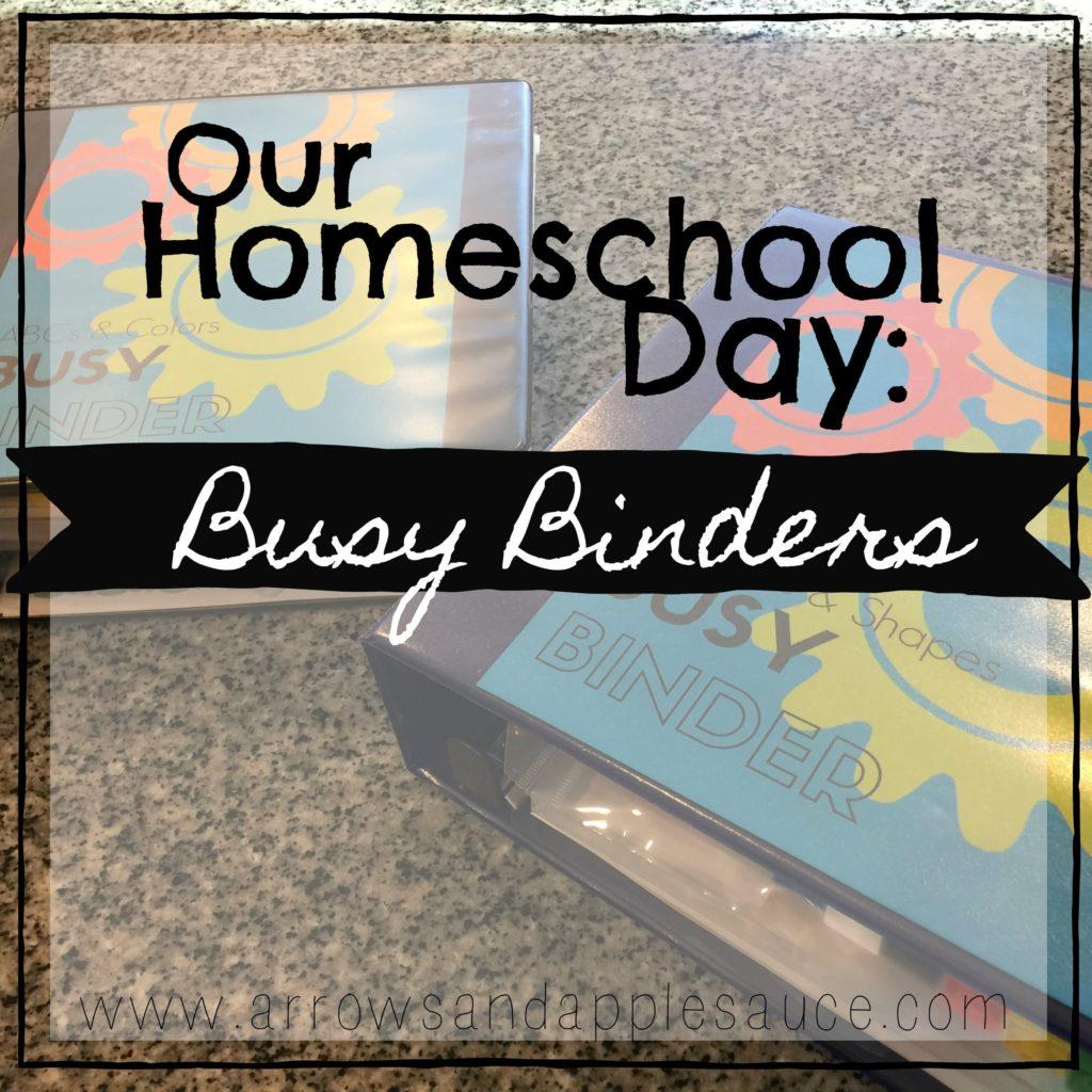 Our Homeschool Day Preschool Busy Binder