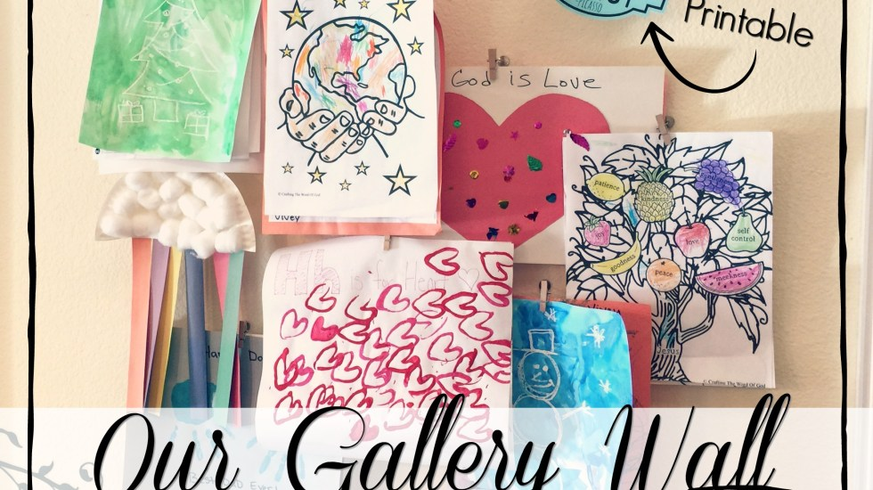 I love displaying my kids artwork on our gallery wall! Learn how to create this look yourself, plus see three other great display ideas. #kidsart #kidscrafts #picassoquote #diy