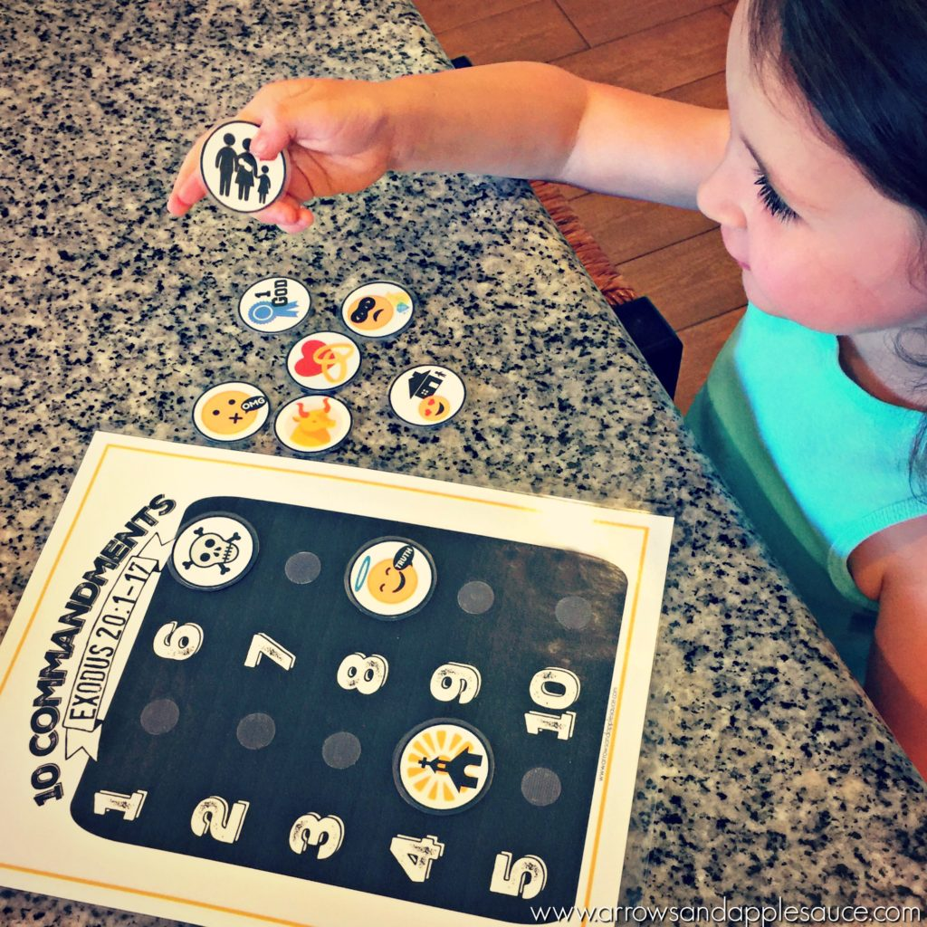 Teaching Kids The Ten Commandments Printable Memory Game