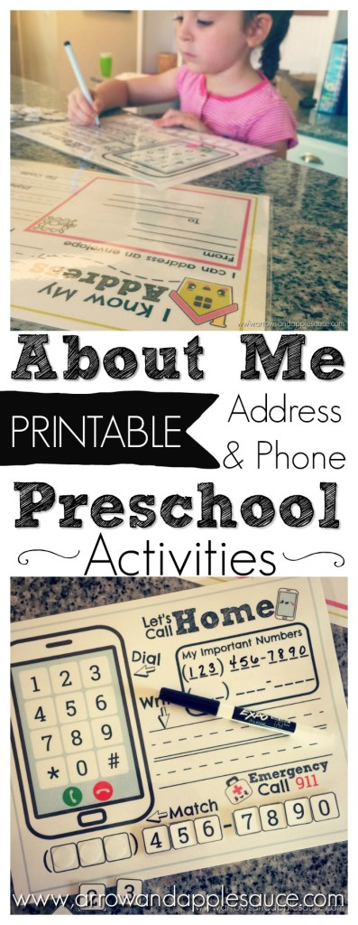 Address and Phone Number Activities   FREE