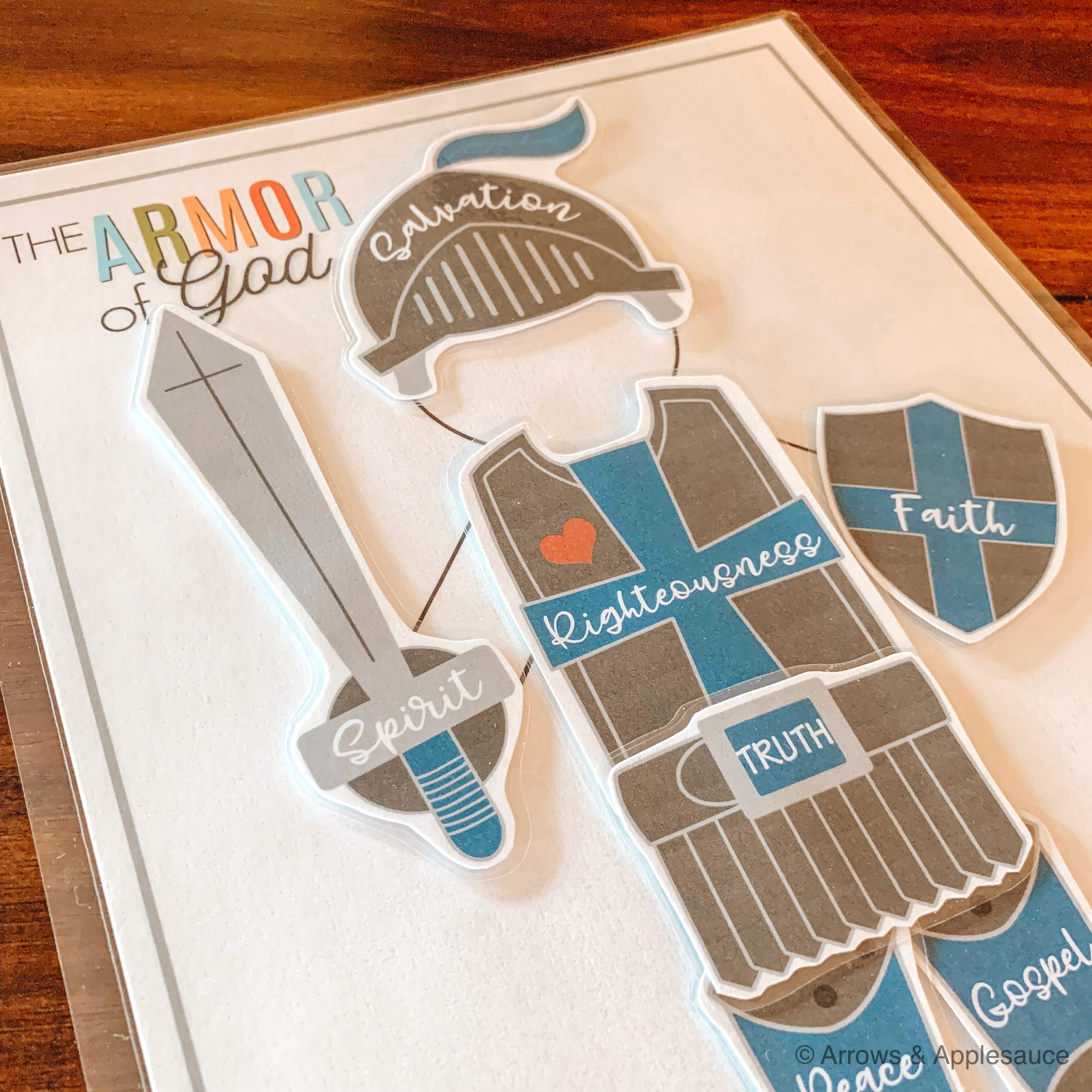 Teaching Kids The Armor Of God Printable Activity Arrows