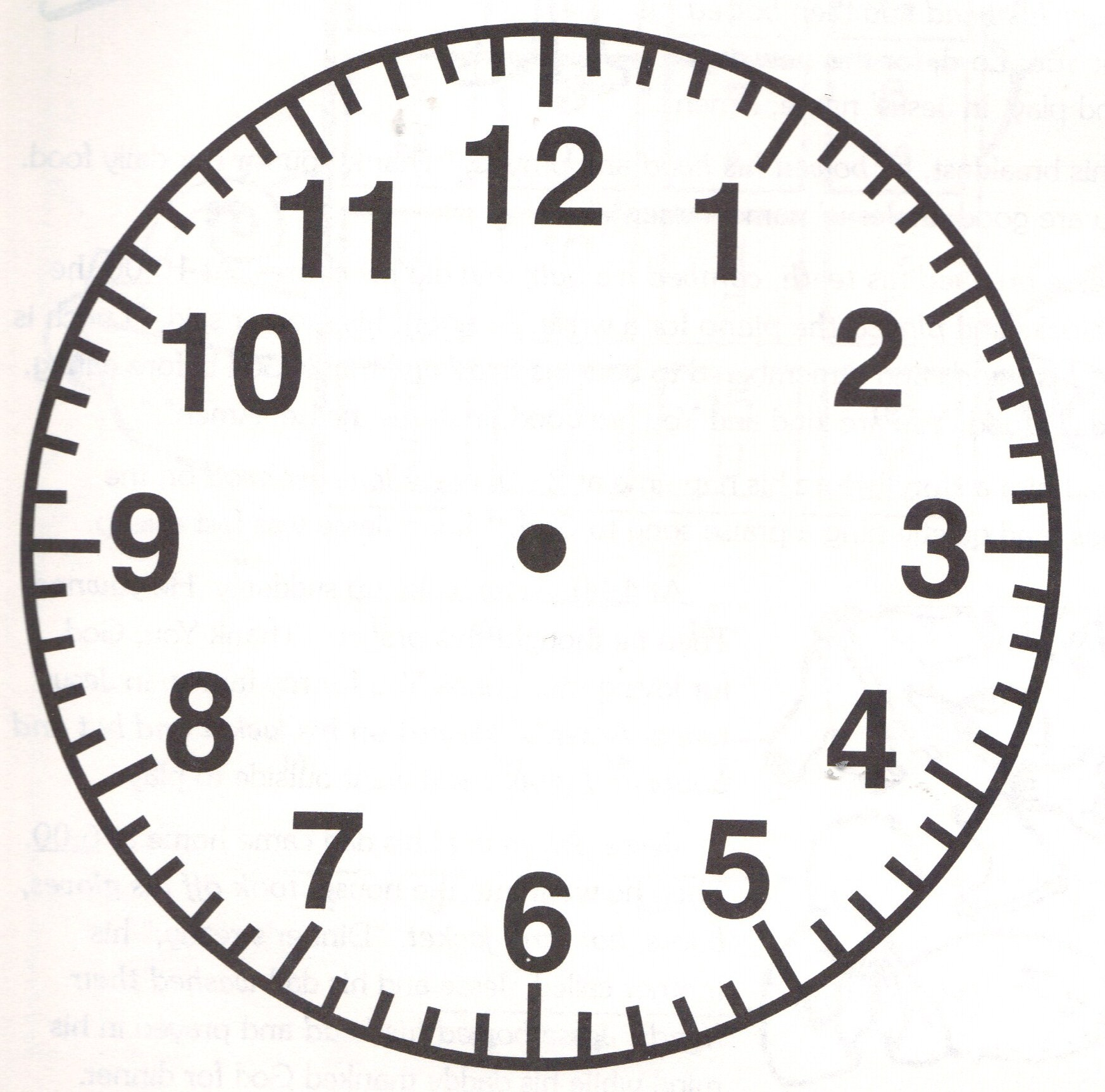 Free clock face coloring pages