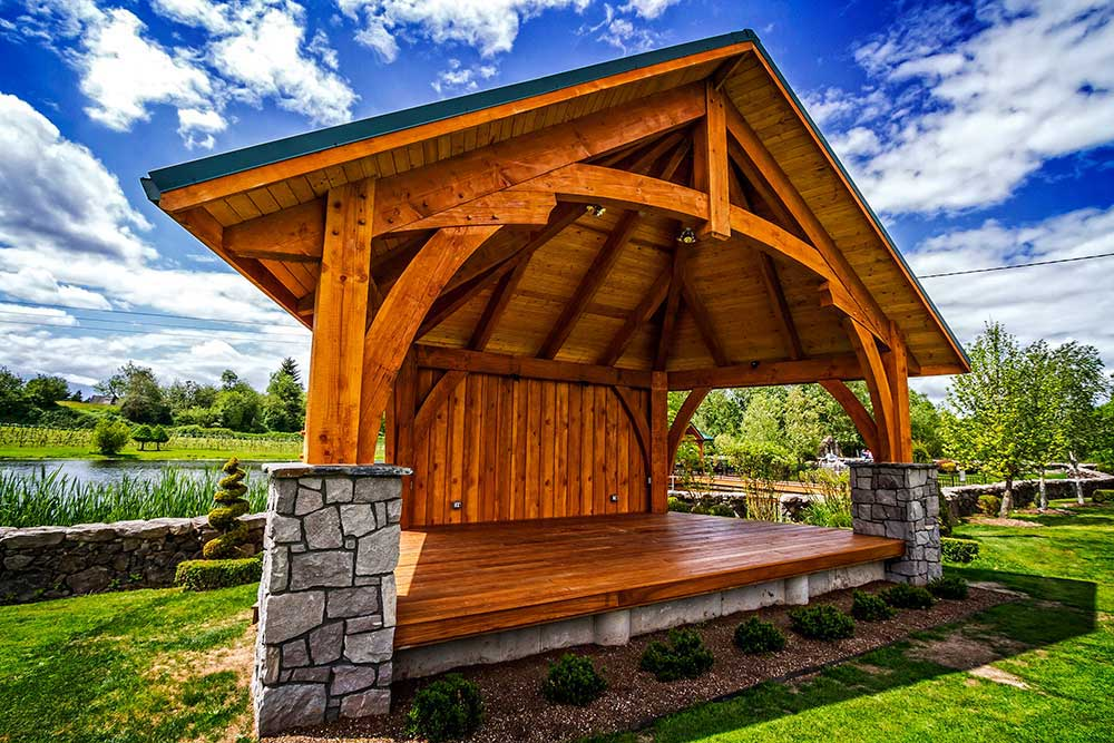 timber frame pavilions patio covers