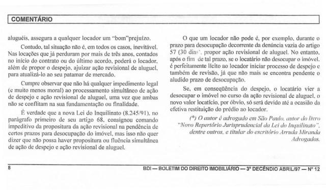 1997-04_AçãodeDespejoNãoImpedeRevisãoJudicialDosAlugueis - Copia