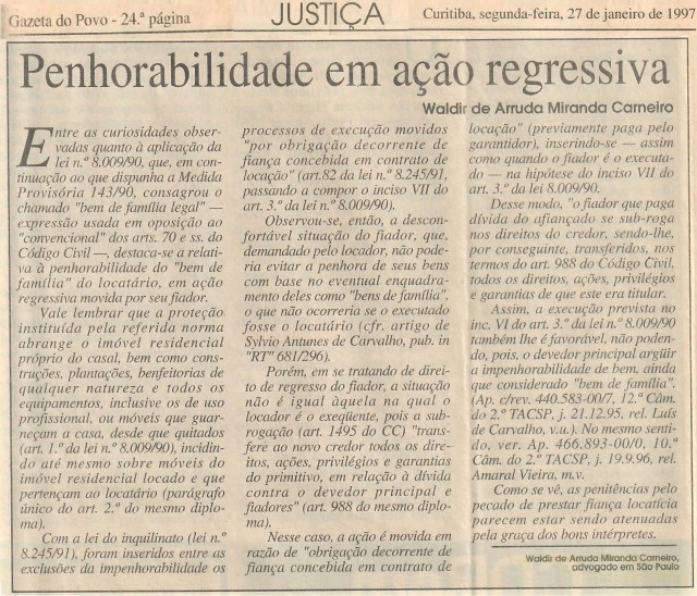 (1997-01-27)_PenhorabilidadeEmAcaoRegressiva