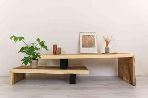 Boomstam tv meubel hout Ars longa (2)