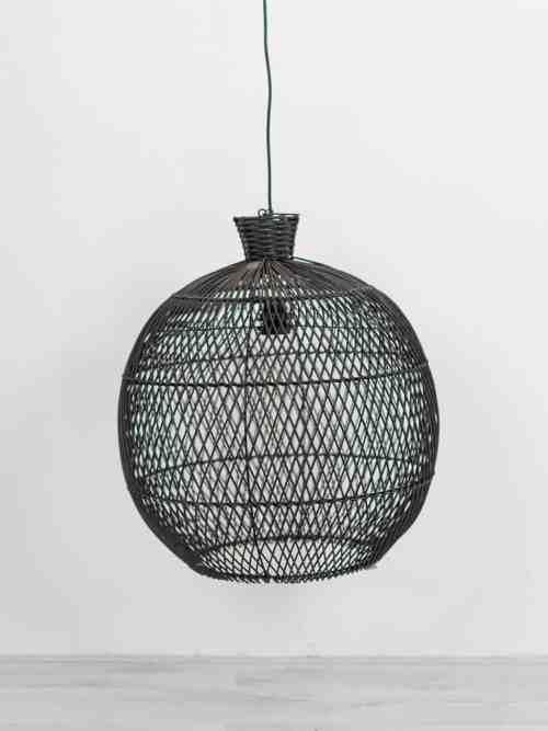 Rotan hanglamp zwart