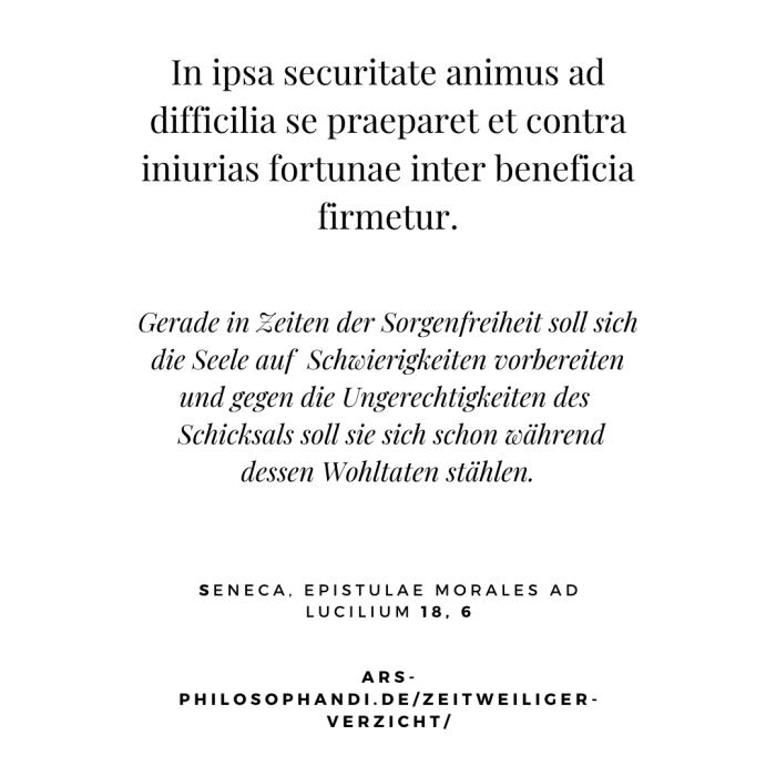 Zitat aus Seneca, Epistulae morales ad Lucilium 18, 6