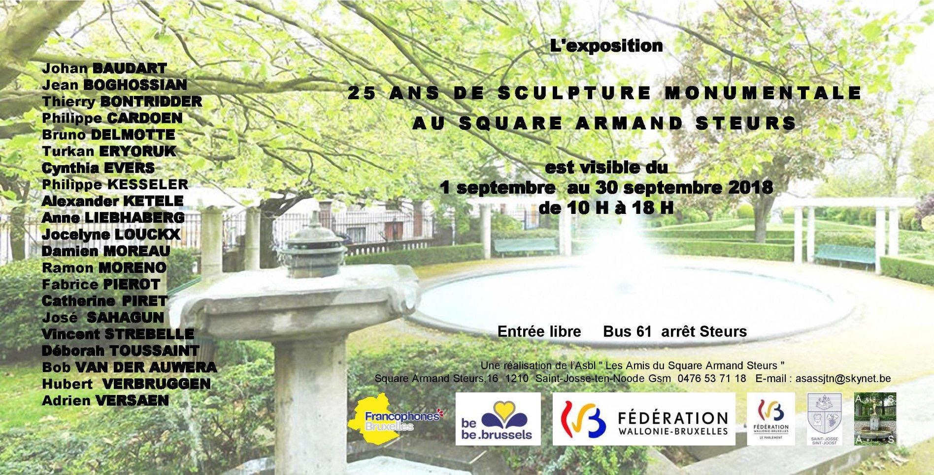Hubert Verbruggen et José Sahagun expose au 25 ans de sculpture monumentale