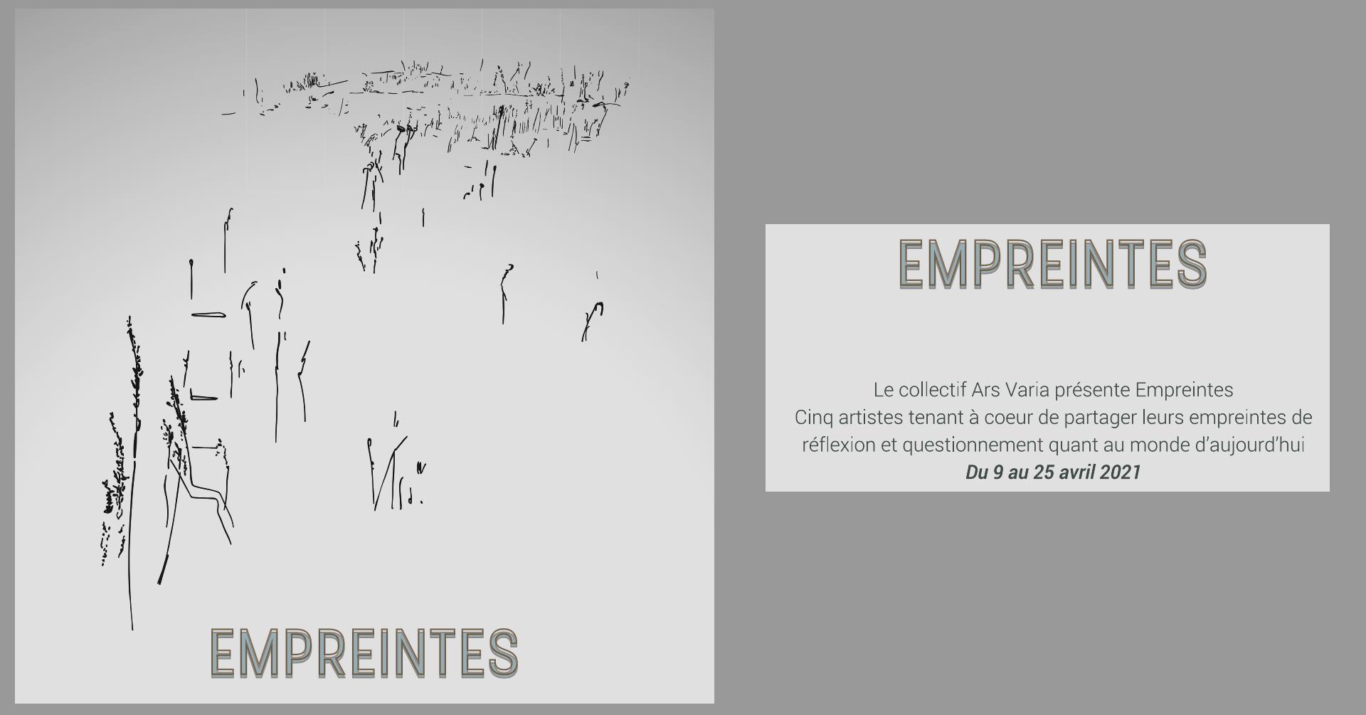 Expositions «Empreintes» Avril 2021