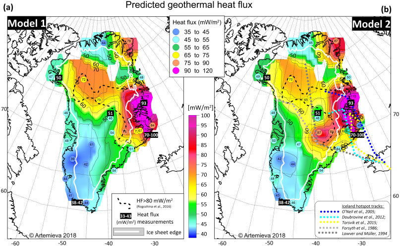 Lithosphere thermal thickness and geothermal heat flux in Greenland from a  new thermal isostasy method - ScienceDirect