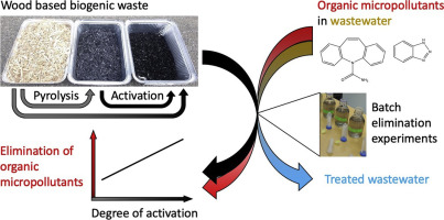 wood based activated biochar to