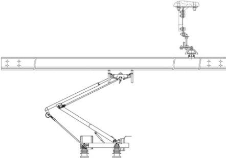 Hasil gambar untuk Rigid overhead pantograph
