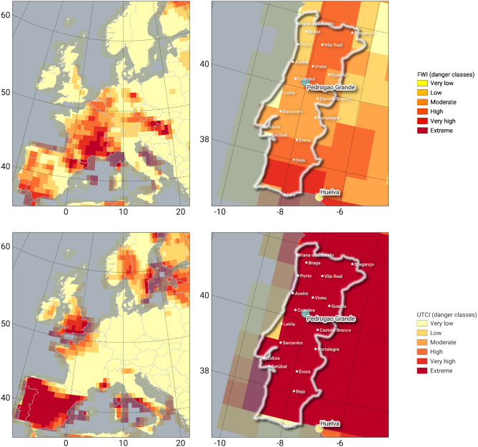 The wildfire is outside of the forest protection area, and assistance is being provided to the organization managing the incident. Mapping Combined Wildfire And Heat Stress Hazards To Improve Evidence Based Decision Making Sciencedirect