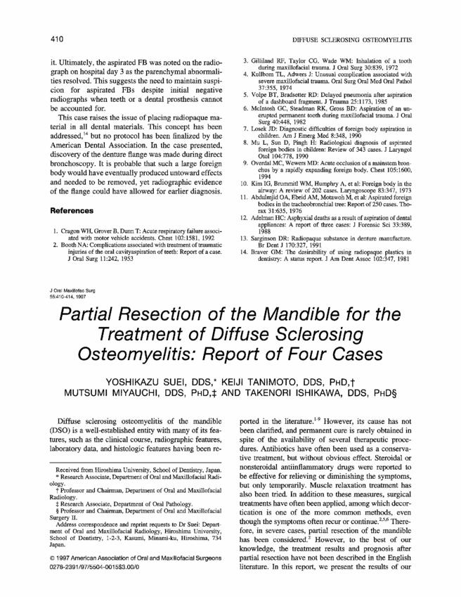 Figure 5 Osteomyelitis Right Mandible