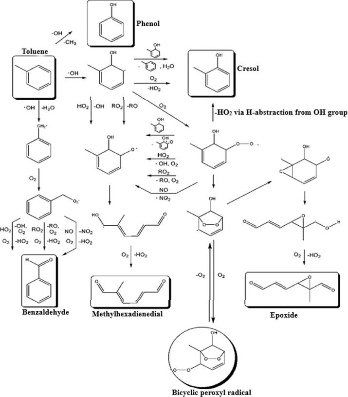 Hydroxyl, hydroperoxyl free radicals determination methods