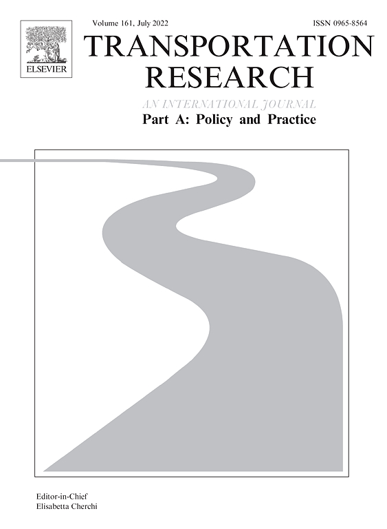 Transportation Research Part A Policy And Practice ScienceDirect Com