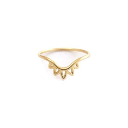 floral henna contour ring