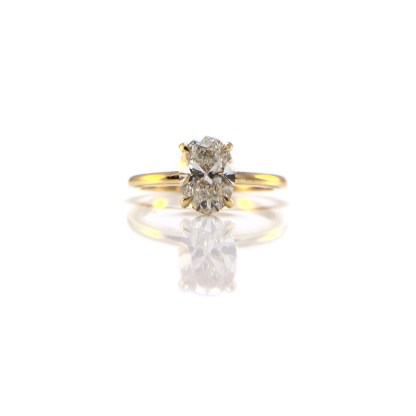 1ct Oval Diamond Solitaire