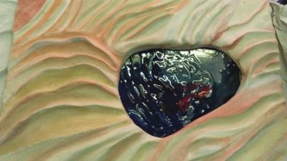 Second wind in living rock Tecnica mista in ceramica 33x43