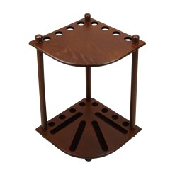 IMPERIAL CORNER CUE RACK ANTIQUE WALNUT