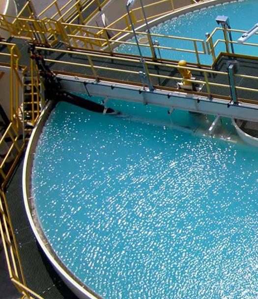 تنقية المياه الناتجة من آبار الغاز الطبيعي
