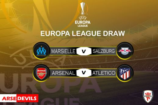 Arsenal Europa league draw, europa league draw, arsenal vs athletico, athletico europa draw, athletico draw vs arsenal,