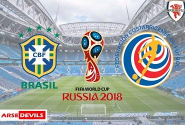 Brazil Vs Costa Rica, FIFA World Cup 2018, Russia