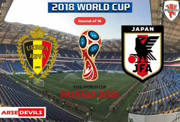 Belgium Vs Japan, FIFA World Cup 2018, Russia