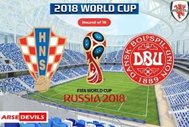 Croatia Vs Denmark, FIFA World Cup 2018, Russia