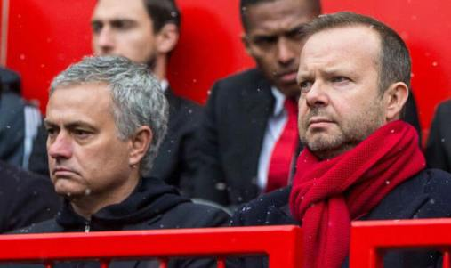 Mourinho and Ed Woodward are at loggerheads with each other after a woeful summer transfer window.