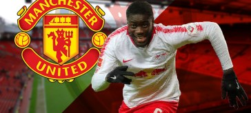 Dayot Upamecano, Upamecano linked to United