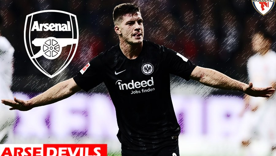 Luka Jovic, Luka Jovic linked to Arsenal, Luka Jovic of Frankfurt linked to Arsenal