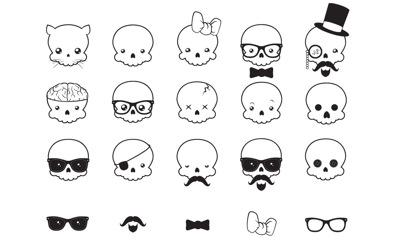 Justin Sobota S Kawaii Skull Vector Pack For Go Media