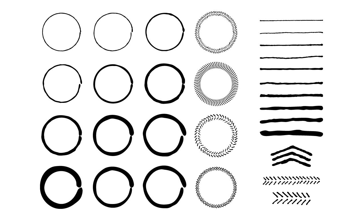 hand drawn circles and