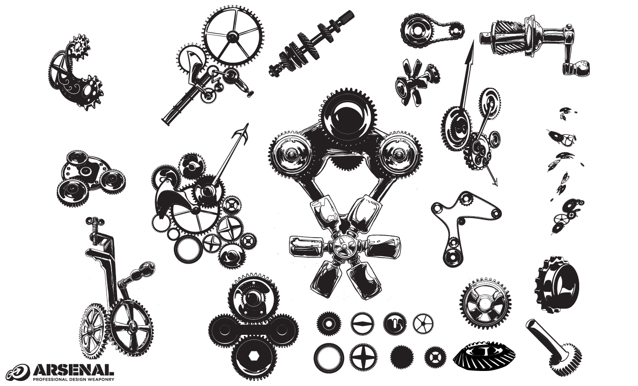 Gears Vector Pack By Go Media S Arsenal