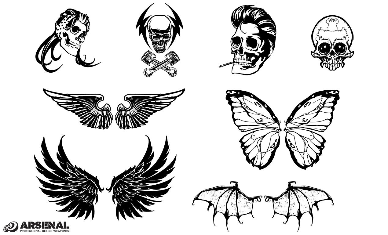 Adobe Illustrator Vintage Symbols Vector Set 22