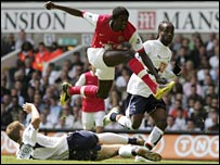 Adebayor finally grabbed the goal his fine form has deserved