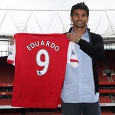Eduardo da Silva has joined Arsenal