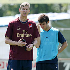 Fabregas would love Wenger to give him the Arsenal captaincy, eventually.