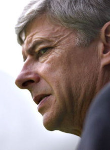 He might not look it, but Wenger is delighted with Arsenal's start